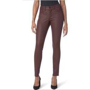 NYDJ Ami Skinny Coated Jeans Skinny Ankle Red 12